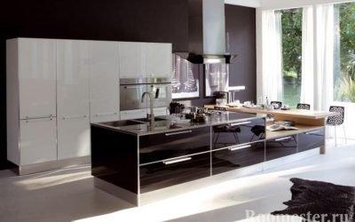 Дизайн черно-белой кухни в интерьере: удачное сочетание