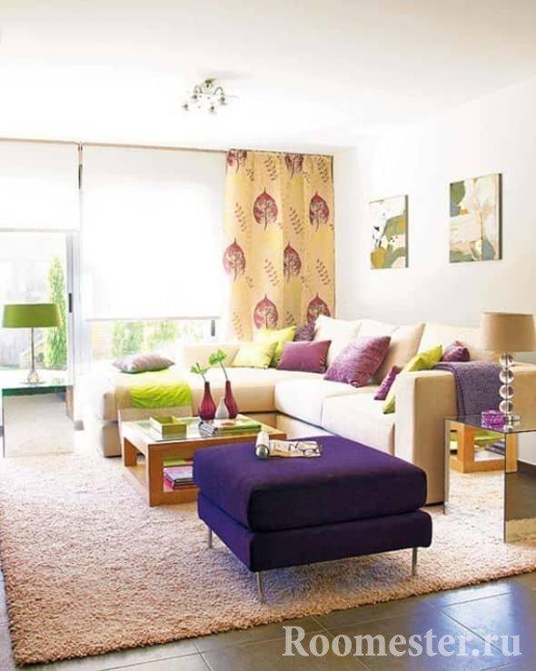 Цветные элементы мебели