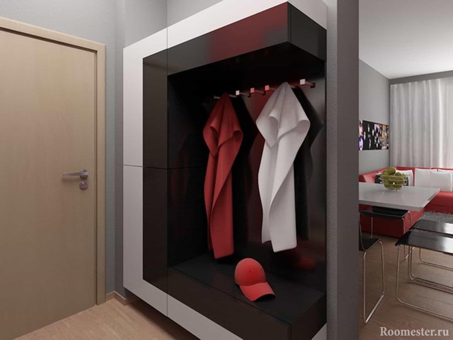 Шкаф и вешалка для прихожей