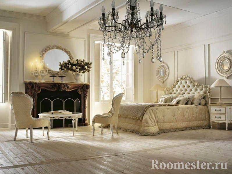 Спальня в итальянском интерьере
