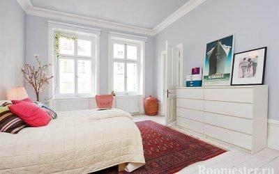 Дизайн спальни в светлых тонах — фото интерьера