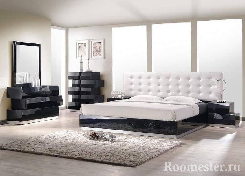 Материалы в спальне в стиле контемпорари