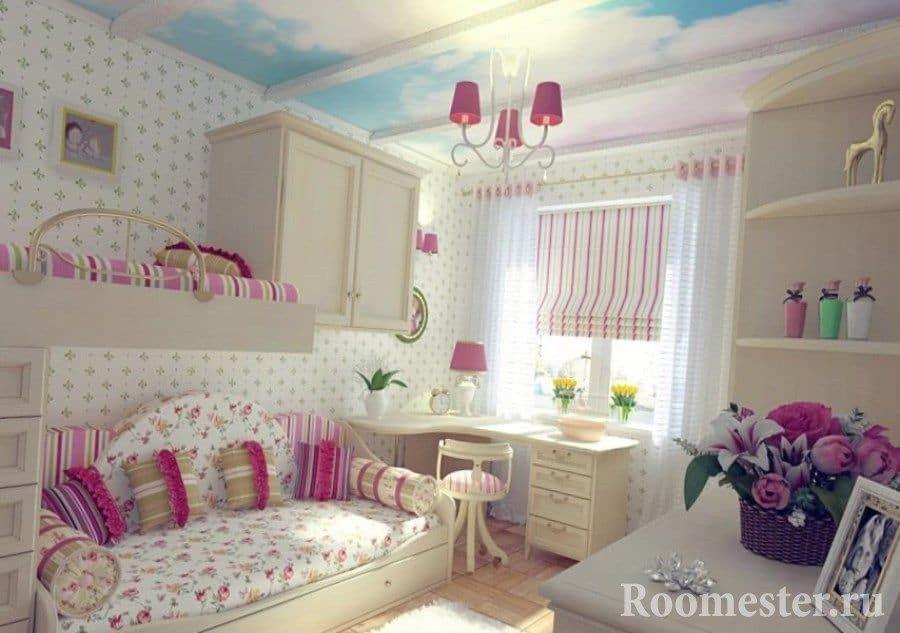 Уютная детская комната для девочек