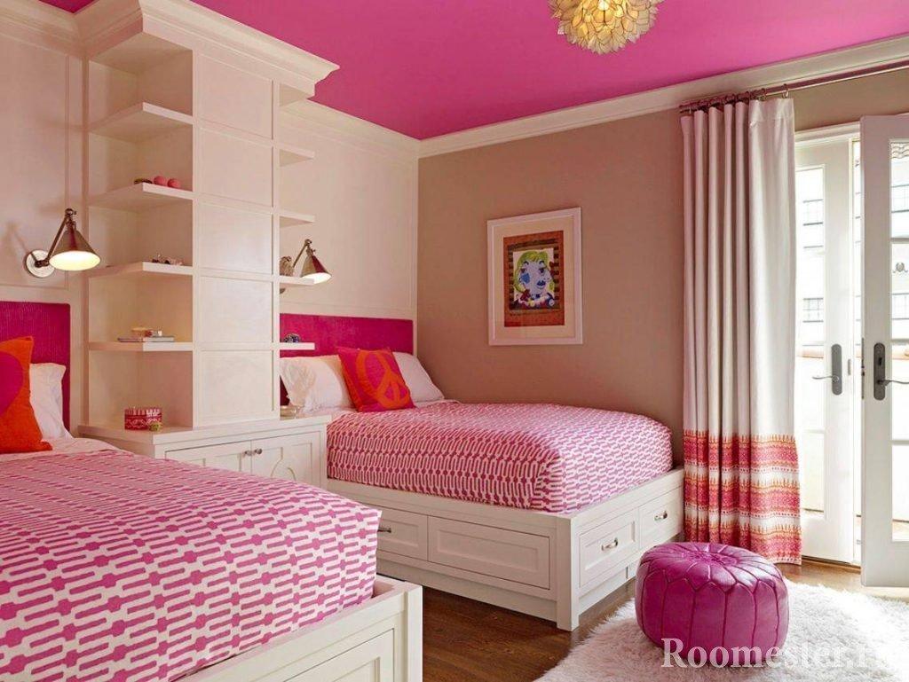 Дизайн интерьера детской комнаты для двух девочек