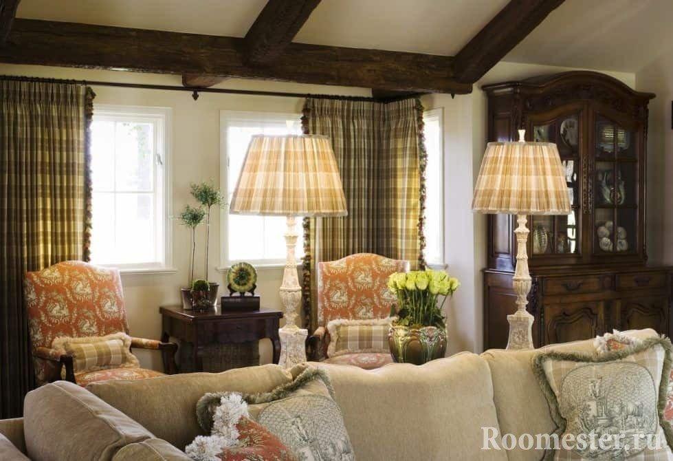Светильники и шторы