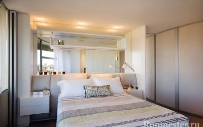 Дизайн маленькой спальни в современном интерьере