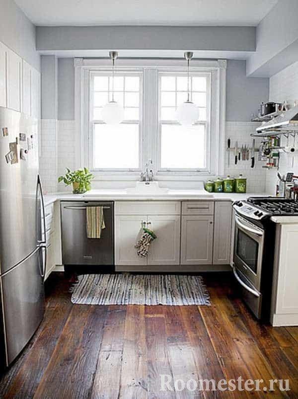 Много света сделает небольшую кухню больше