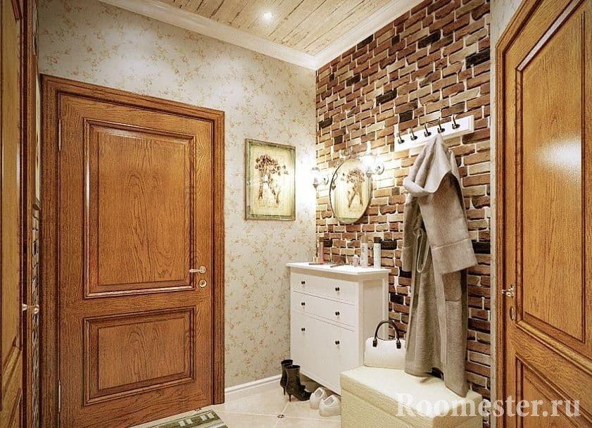 Стиль лофт в прихожей частного дома