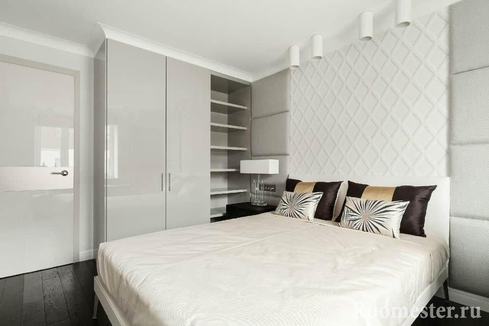 Белоснежная спальня 13 кв м
