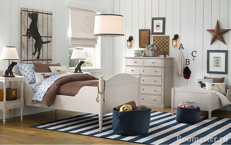 Декор дизайна спальни для мальчика