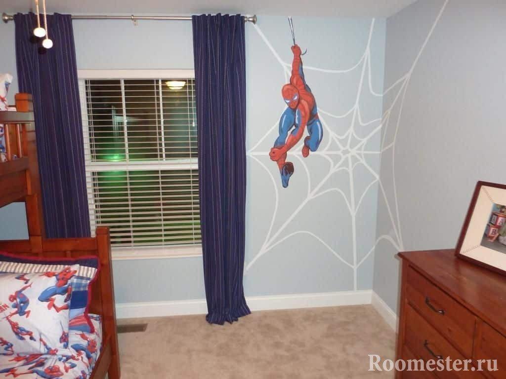 Тематическая спальня для мальчика с использованием комиксов