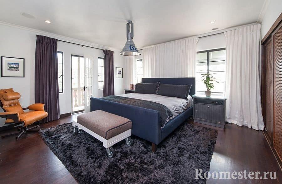 Дизайн мужской спальни в классическом стиле
