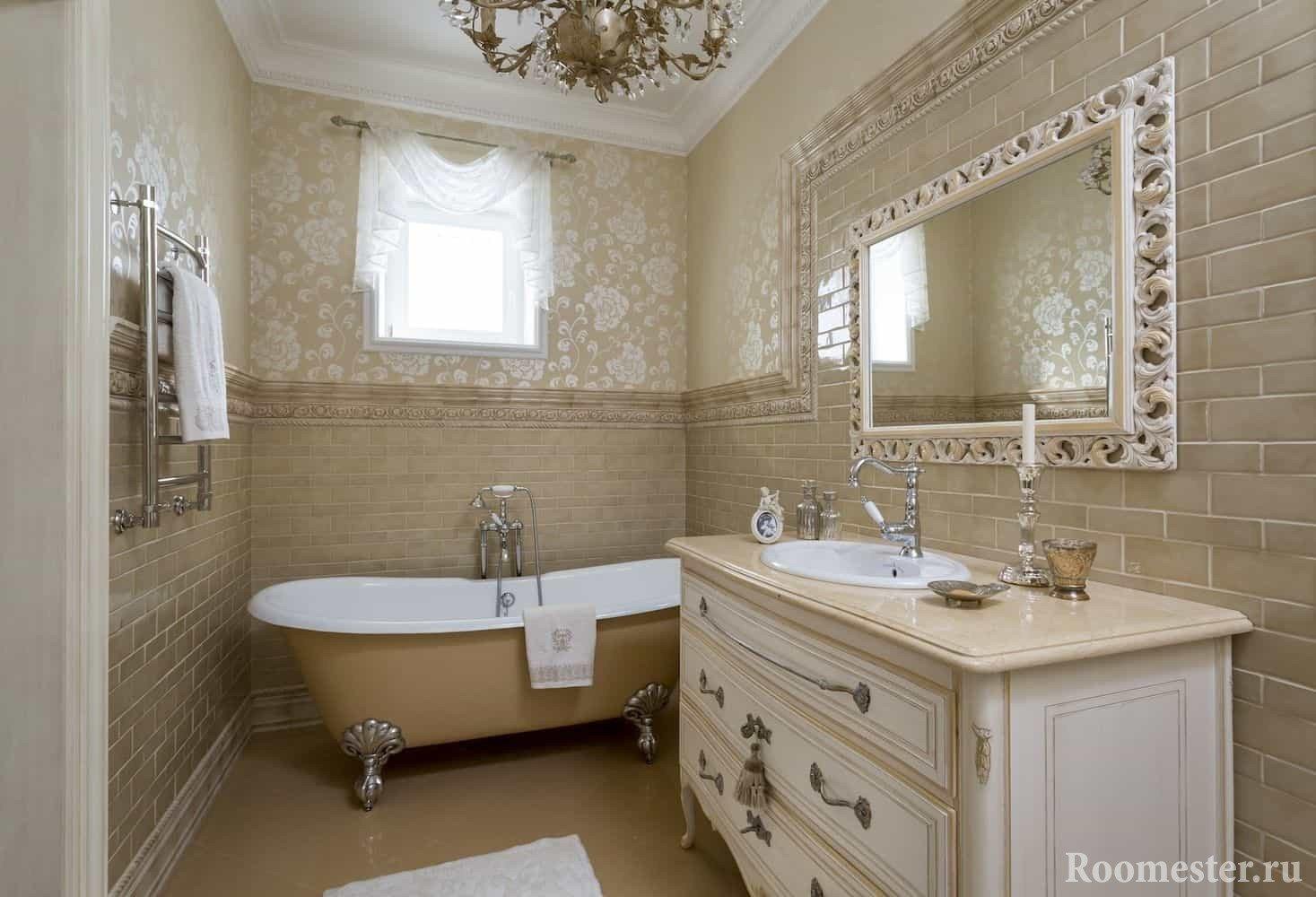 Дизайн ванной комнаты в 3-х комнатной квартире
