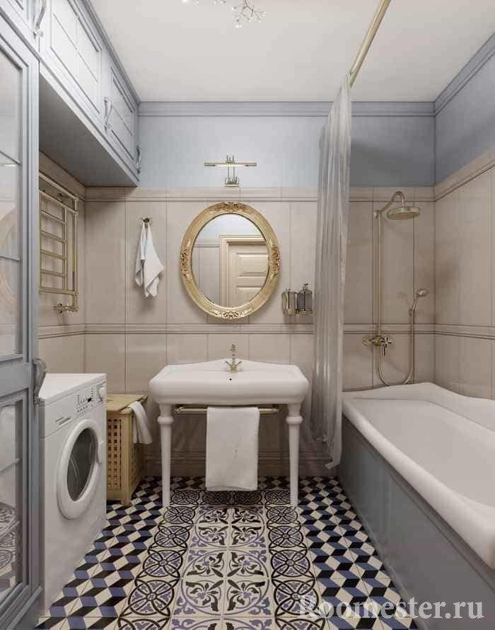 Bathroom design combined with a bathroom