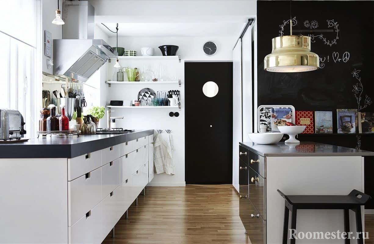 Небольшая кухня в скандинавском стиле