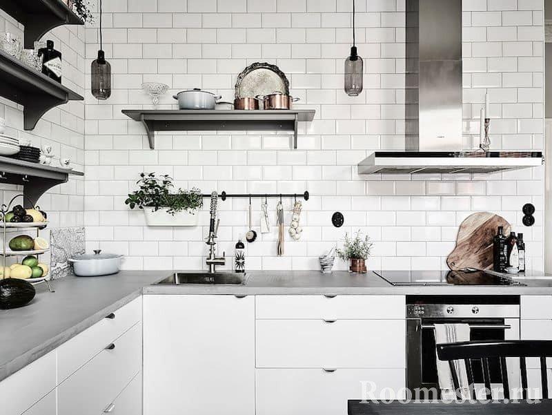 Кафельная плитка в кухне