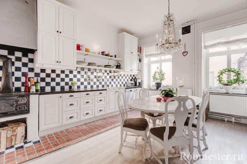 Скандинавский стиль в кухне-столовой