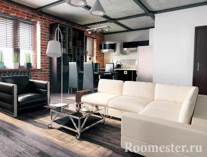 Дизайн квартиры в современном стиле с раскладным диваном