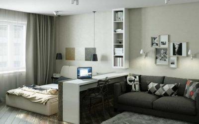 Современный дизайн однокомнатной квартиры — фото примеры