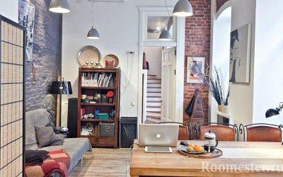 Как оформить интерьер маленькой квартиры в стиле лофт