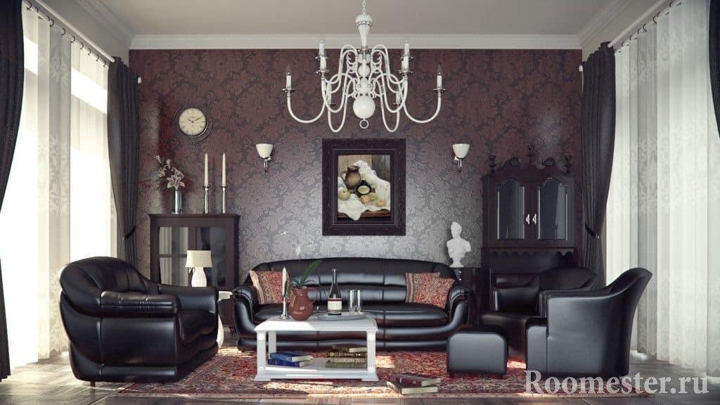 Комфортная комната в стиле современная классика