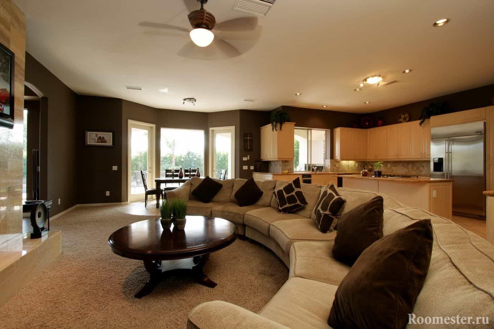 Сочетание цветов в гостиной в стиле современная классика