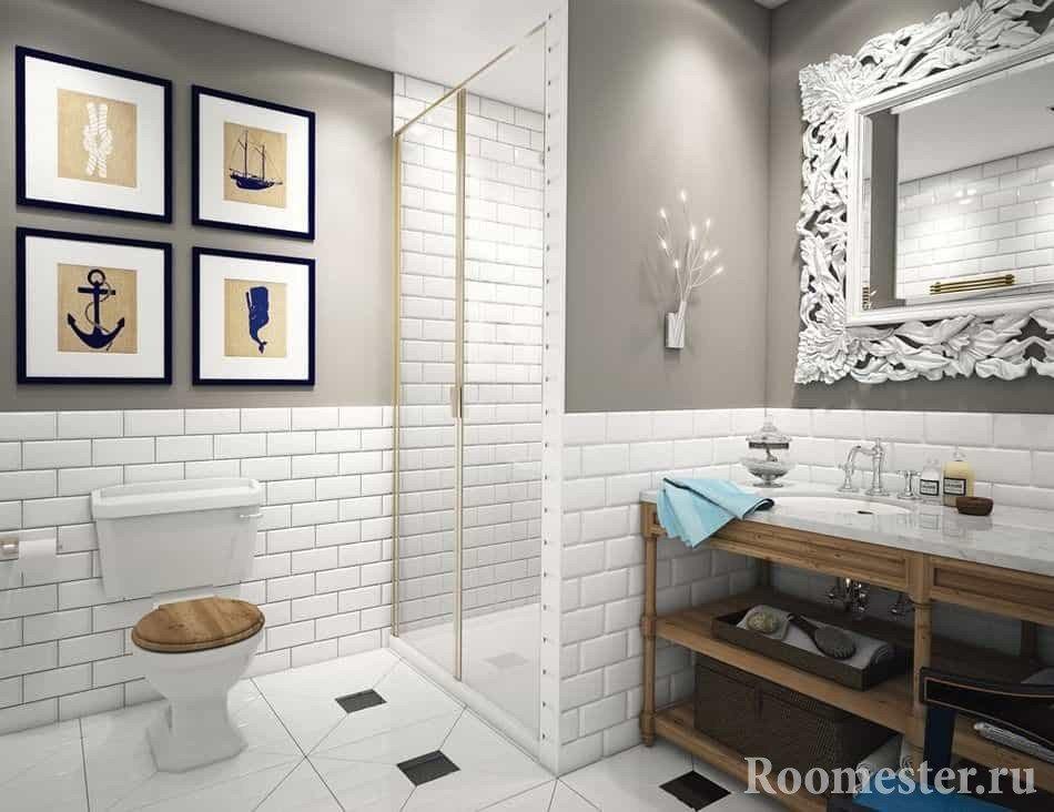Ванная комната и туалет в стиле современная классика