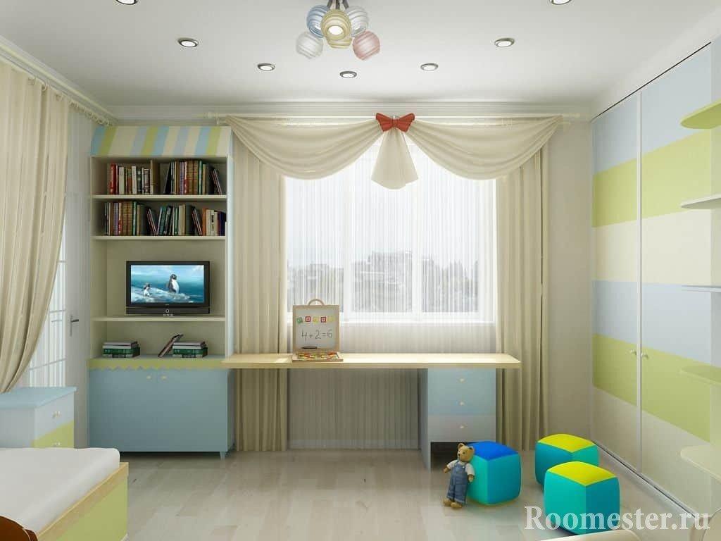 Светлая детская комната в хрущевке для любимого ребенка