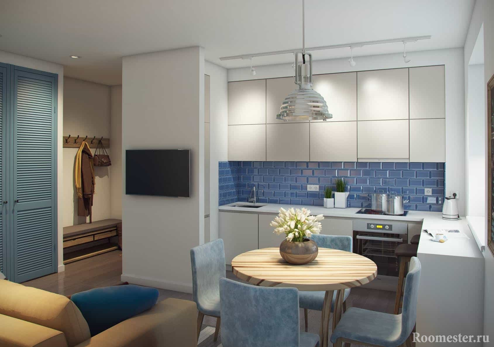 Кухня соединенная с коридором