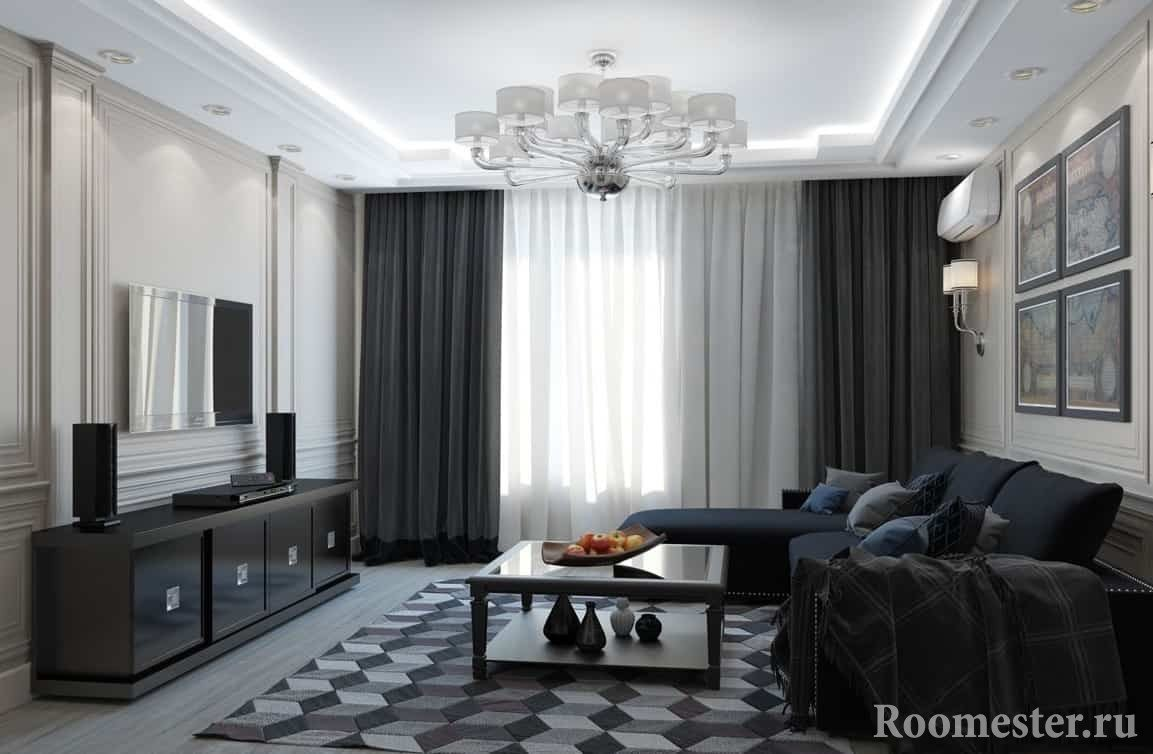 Хай-тек дизайн маленькой двухкомнатной квартиры