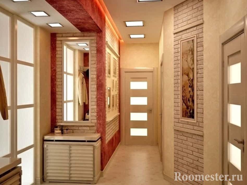 Зеркала и свет увеличат ваш небольшой коридор