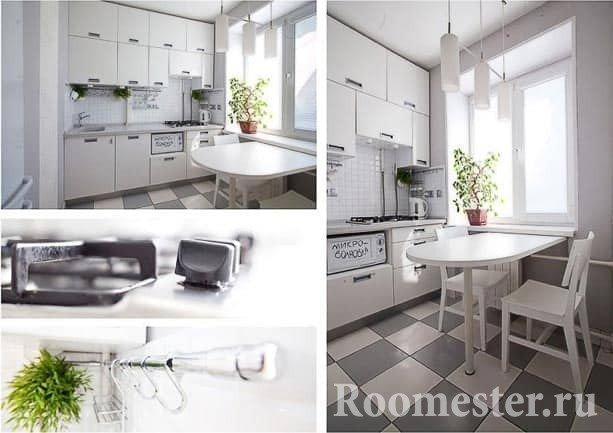 Складной стол для кухни 6 кв м