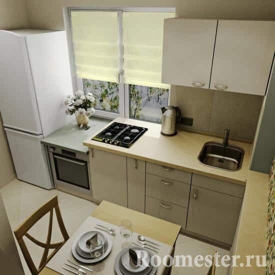 Маленькая кухня 6 кв м с окном