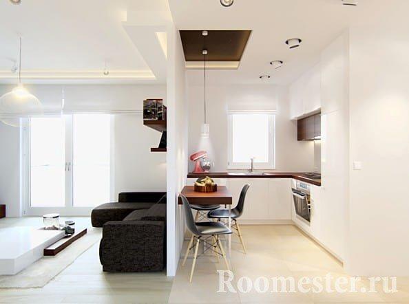 Простая и уютная кухня 6 кв м