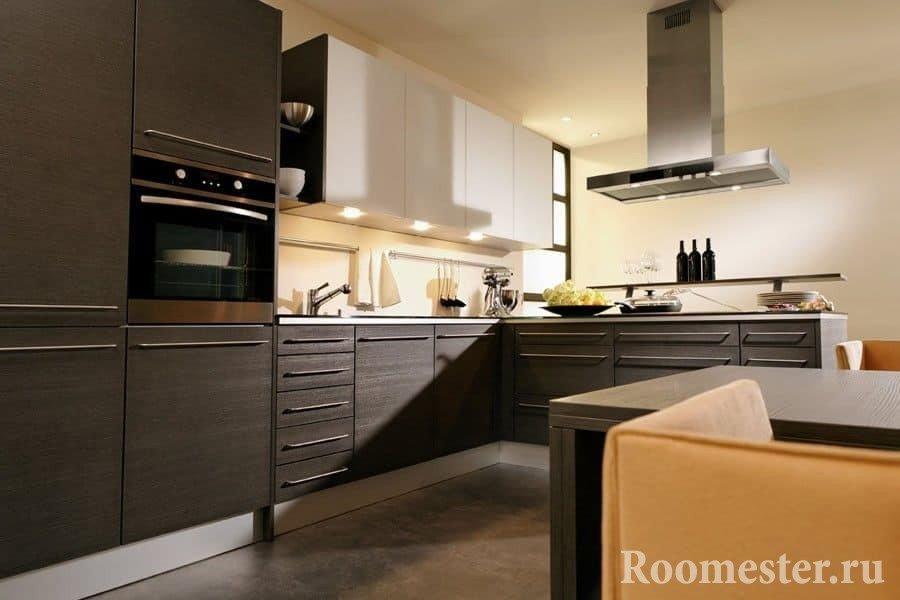Кухня угловая цвета венге