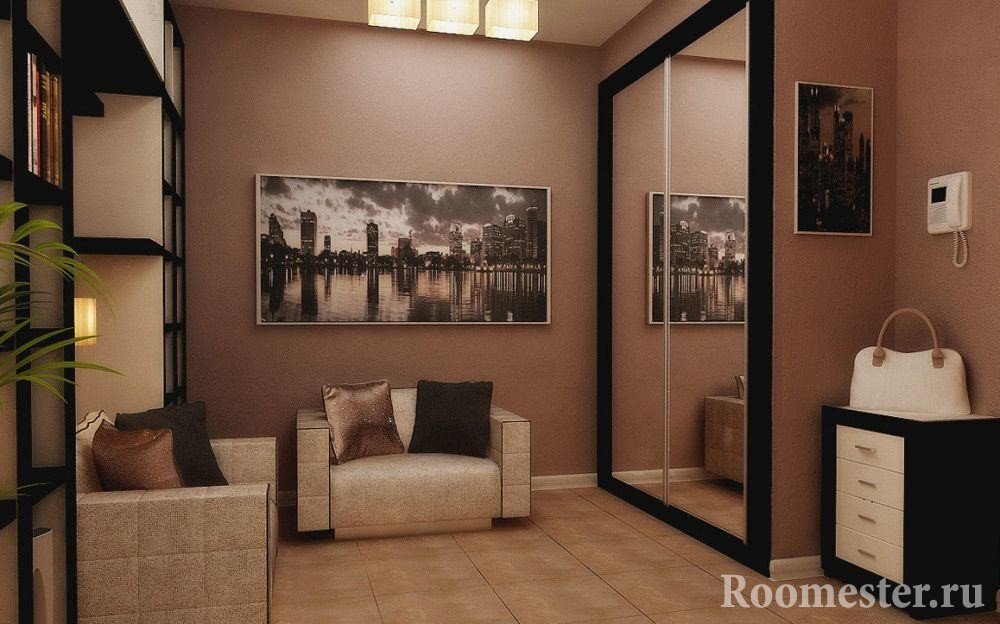 The picture in the square hallway of 10 square meters
