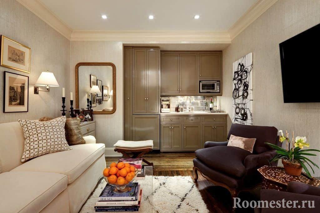 Дизайн квартиры-студии 25м2