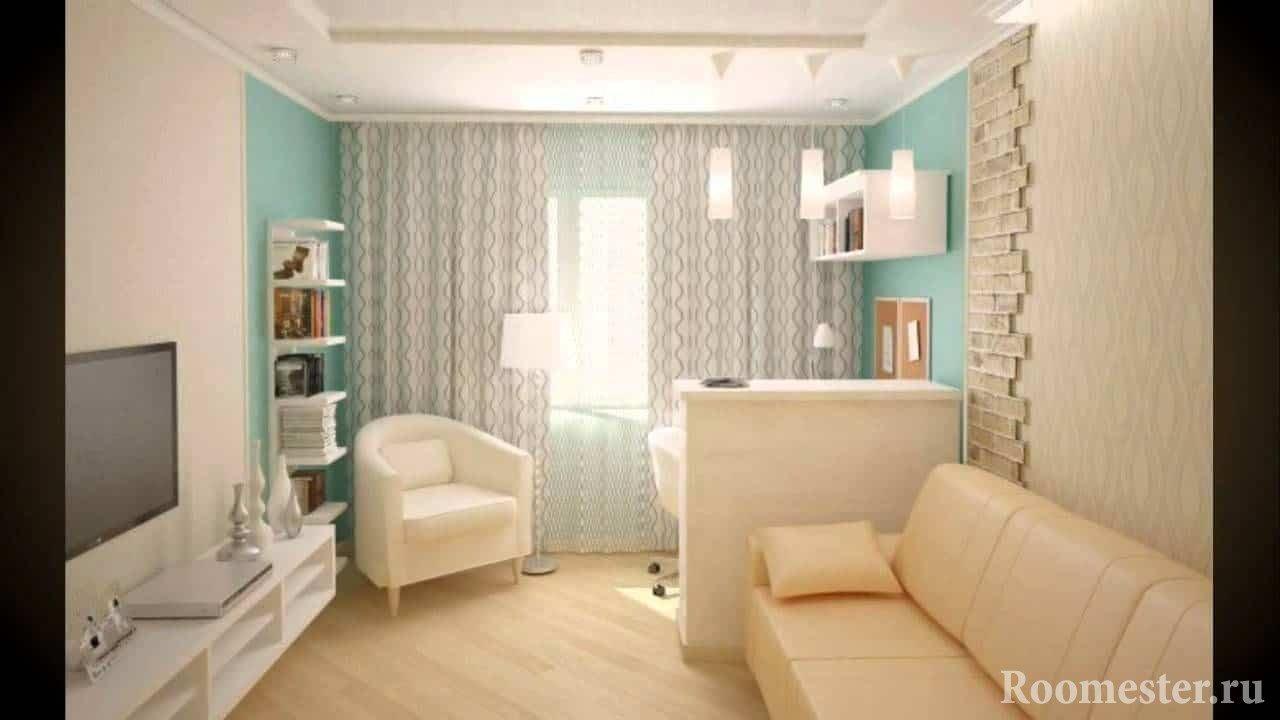Комната в однокомнатной квартире хрущевке