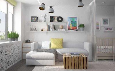 Дизайн однокомнатной квартиры с ребенком — фото интерьера