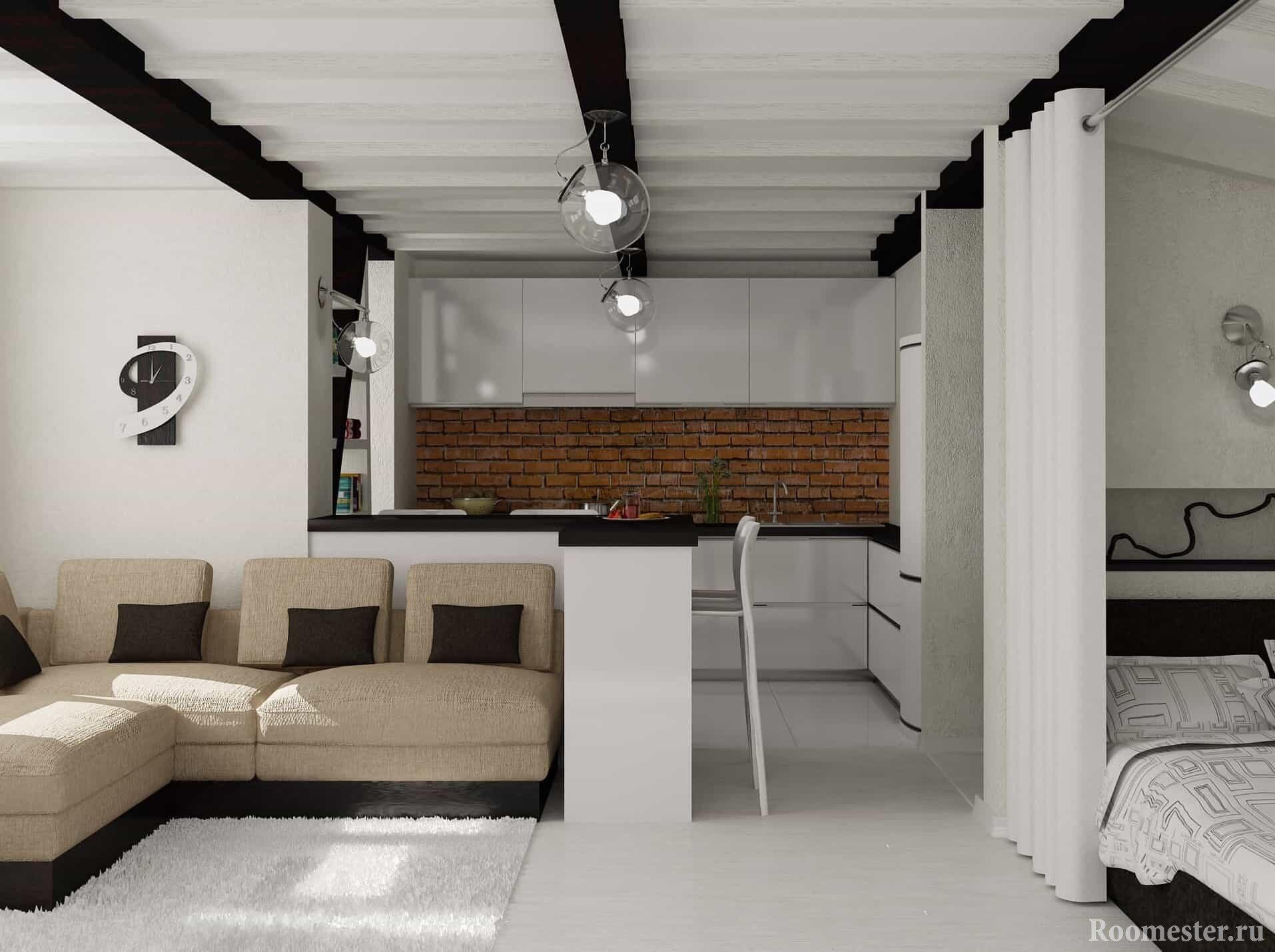 Однокомнатная квартира студия для семьи