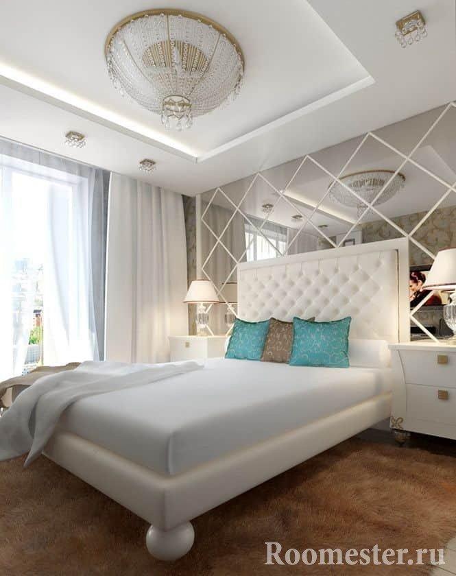 Elegant chandelier in the bedroom 4 by 4