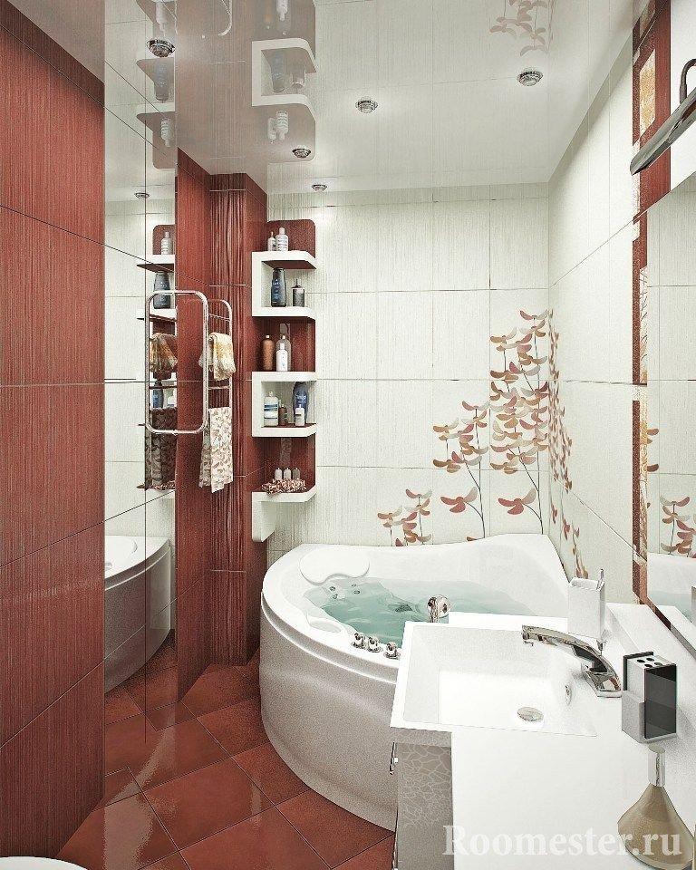 Узкая ванная комната