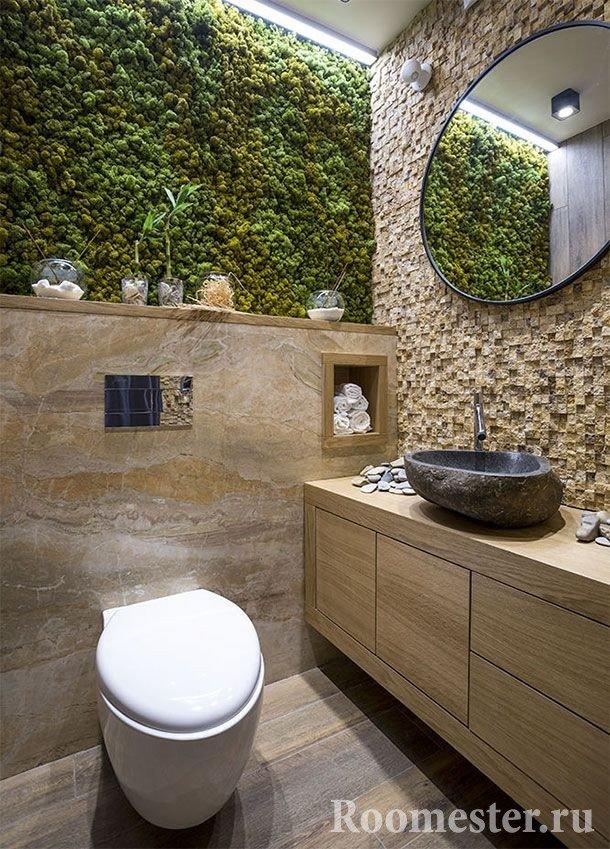 Искусственный камень в туалете