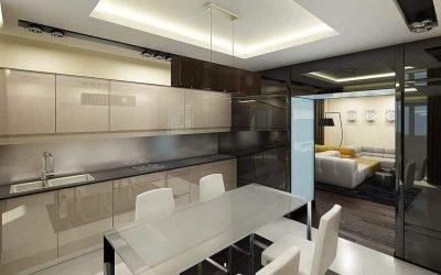 Дизайн кухни в стиле хай-тек — фото идеи интерьера