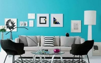 Бирюзовый цвет в интерьере — фото сочетания