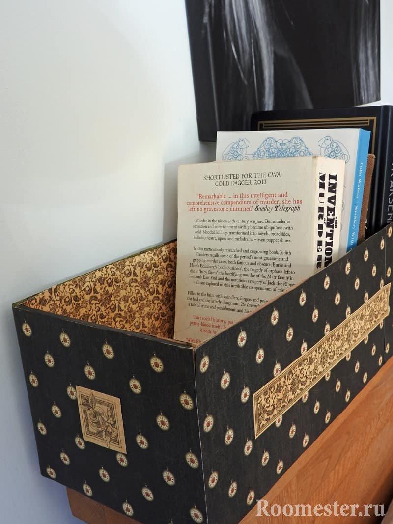 Декупаж картонной коробки своими руками: нюансы и способы