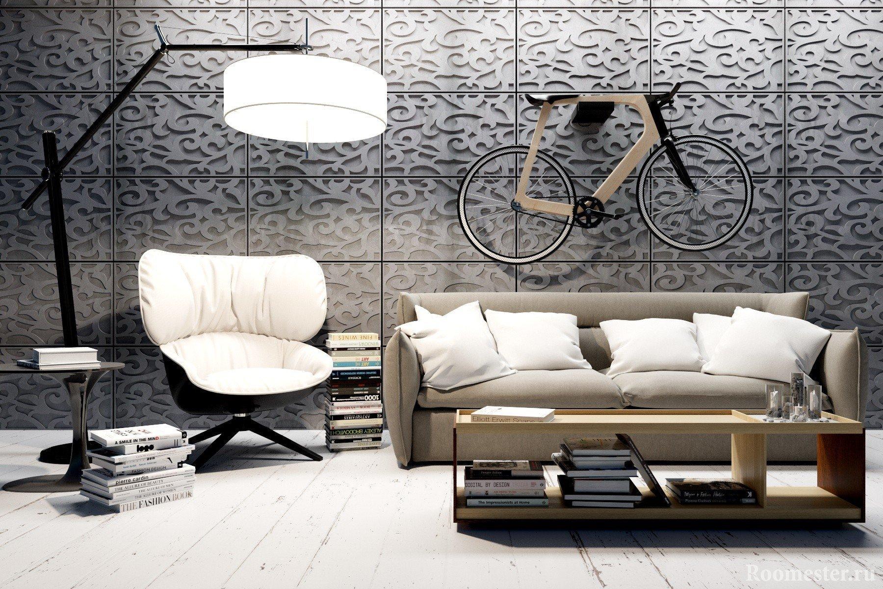 Бумажный декор стен своими руками