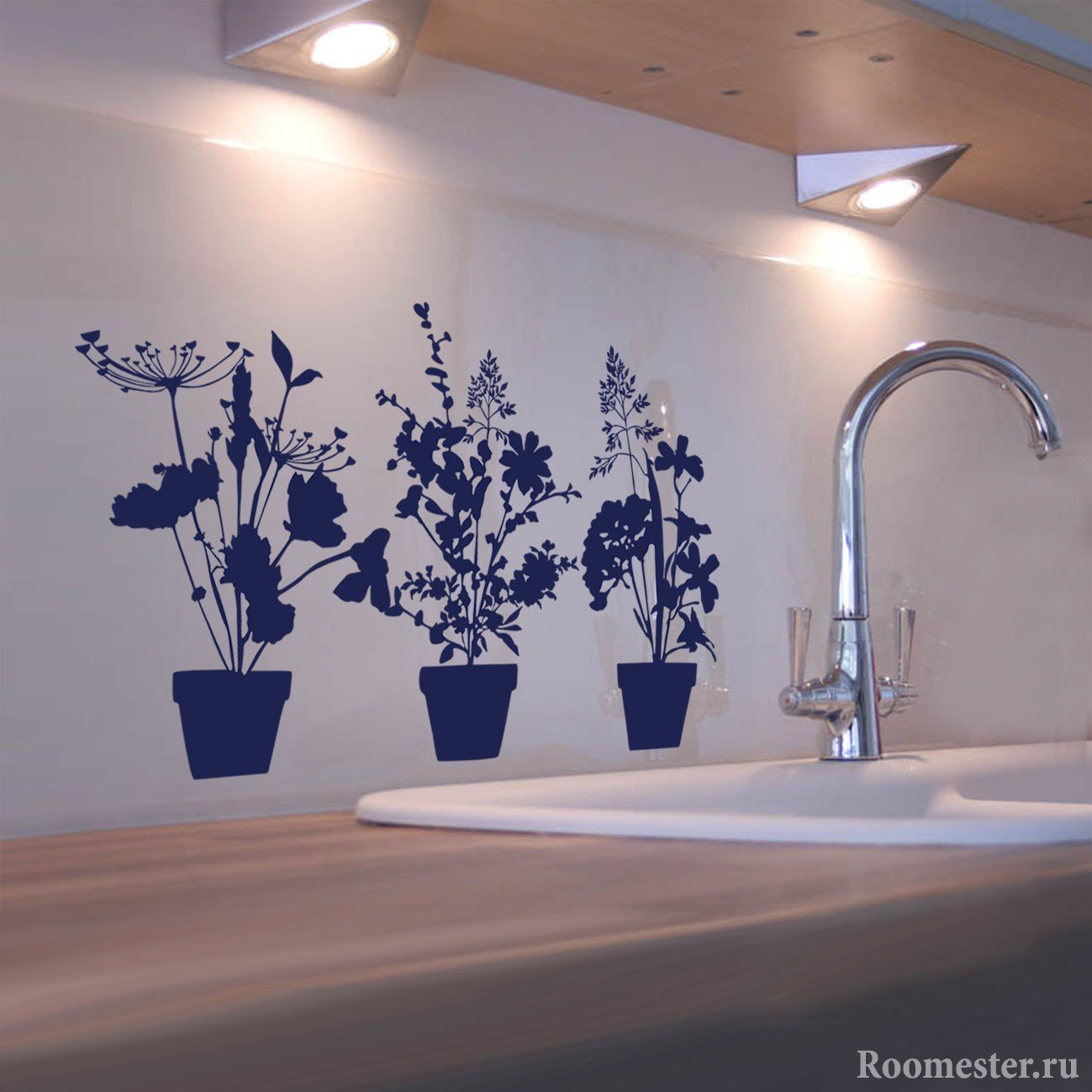 Наклейки на стену кухни