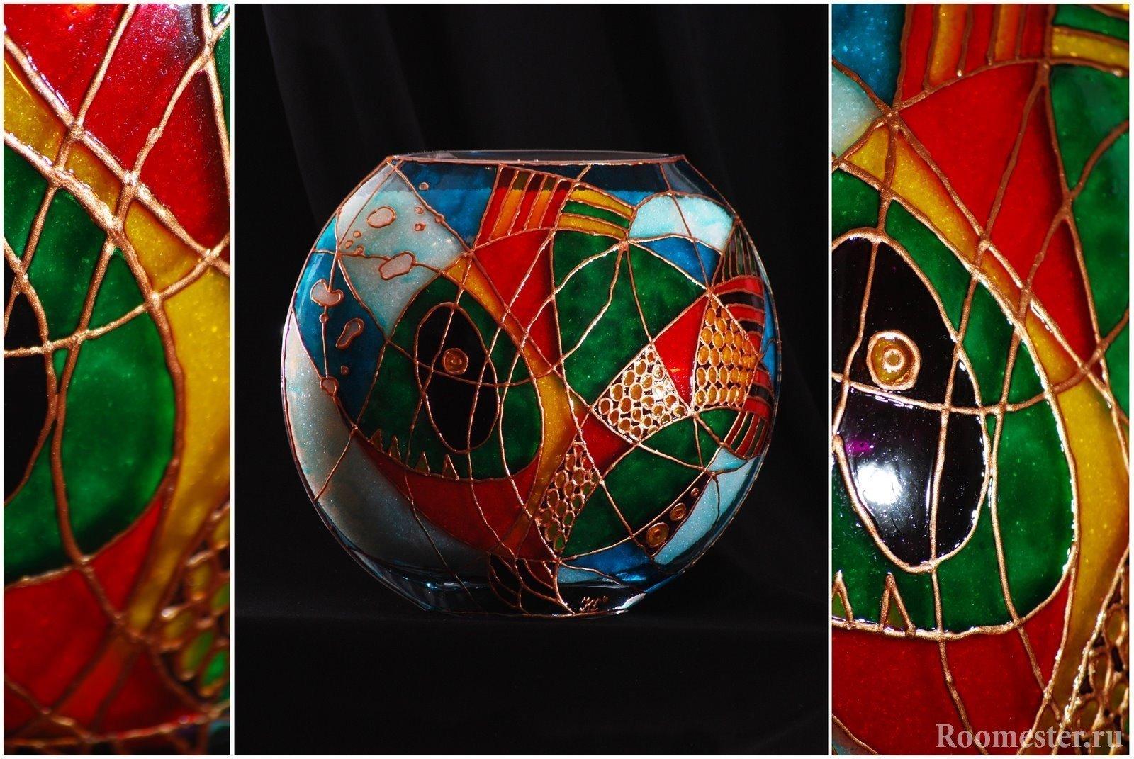 dekor-vazy-svoimi-rukami-17 Как сделать вазу из банки своими руками: 6 способов и 50 фото