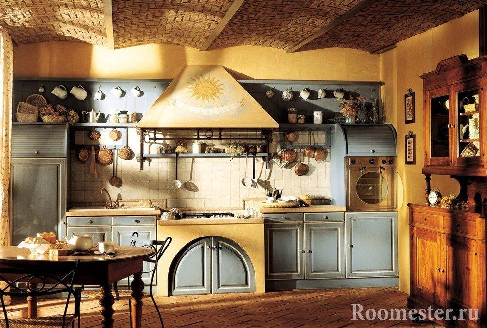 Кухня в зарубежном деревенском стиле